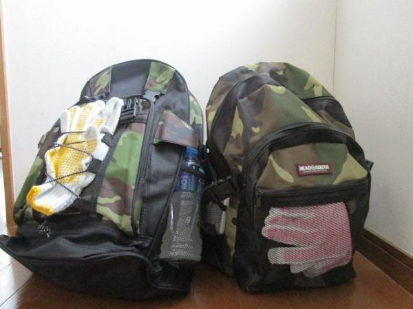 避難袋・非常持ち出し袋の重さ確認