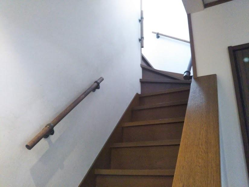 大工さん訪問 20190218_102218 階段に手すり