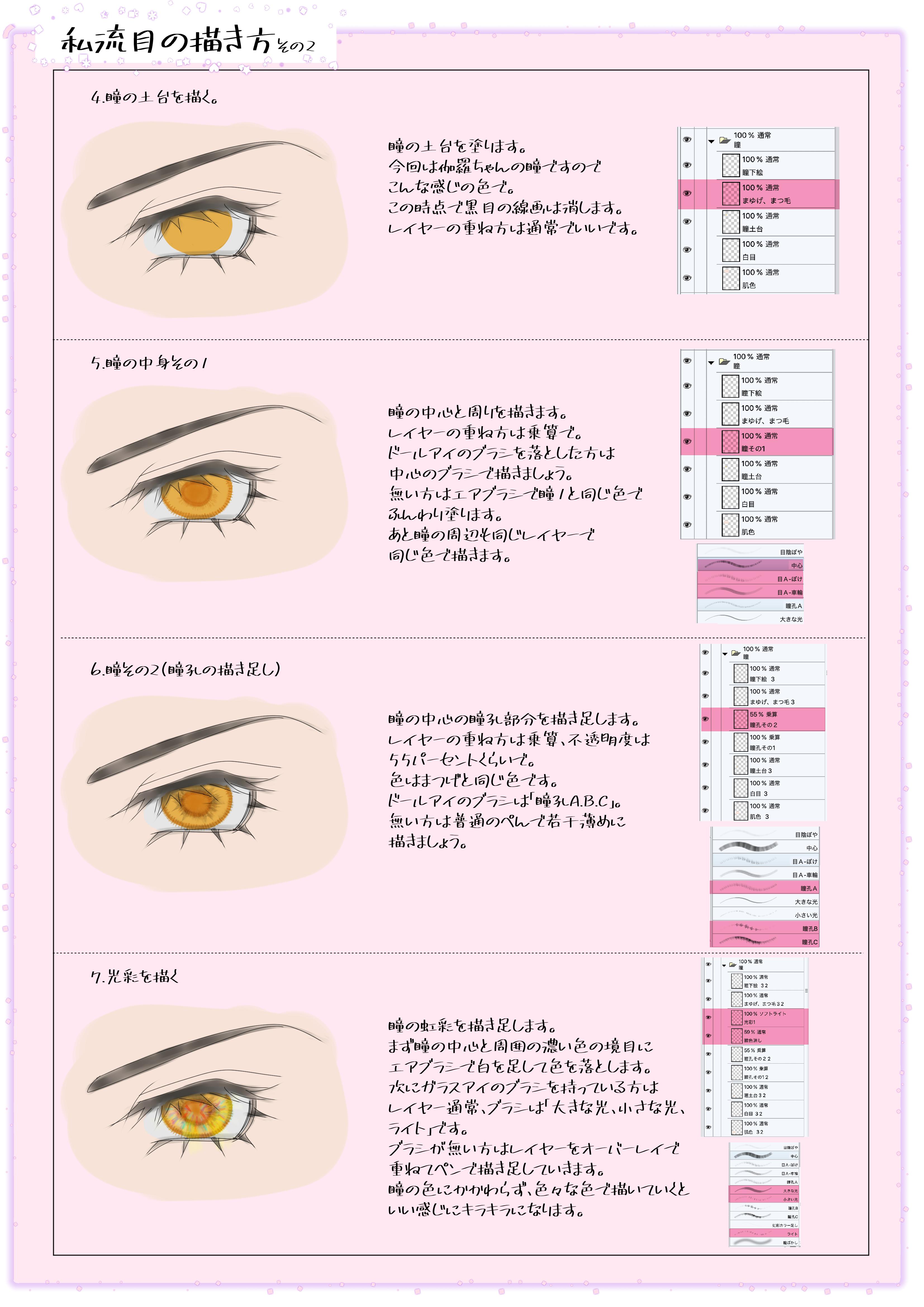 目の描き方その2