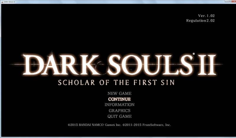Borderless Gaming 8.4 を使って DX11 版 Dark Souls II Scholar of the First Sin をアスペクト比を維持したまま、WXUGA モニター(1920x1200)でボーダーレスフルスクリーン(仮想フルスクリーン)にする方法、DARK SOULS II Scholar of the First Sin ウィンドウモード 解像度 1920x1080 でゲーム画面表示
