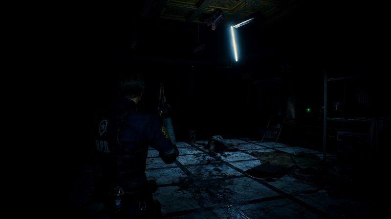 Steam 版 バイオハザード RE:2 ReShade インストール設定、ReShade プリセット Resident Evil 2 Remake Terror、色空間 sRGB、最高輝度調整・最低輝度調整・明るさ調整 変更済み
