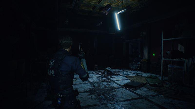 Steam 版 バイオハザード RE:2 ReShade インストール設定、ReShade プリセット Resident Evil 2 Remake Terror、色空間 Rec.709、明るさ調整 すべてデフォルト