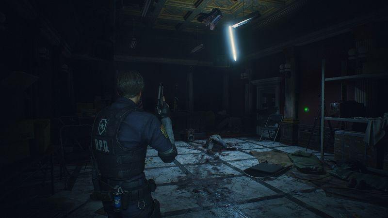 Steam 版 バイオハザード RE:2 ReShade インストール設定、ReShade プリセット Resident Evil 2 Remake Terror、色空間 sRGB、明るさ調整 すべてデフォルト