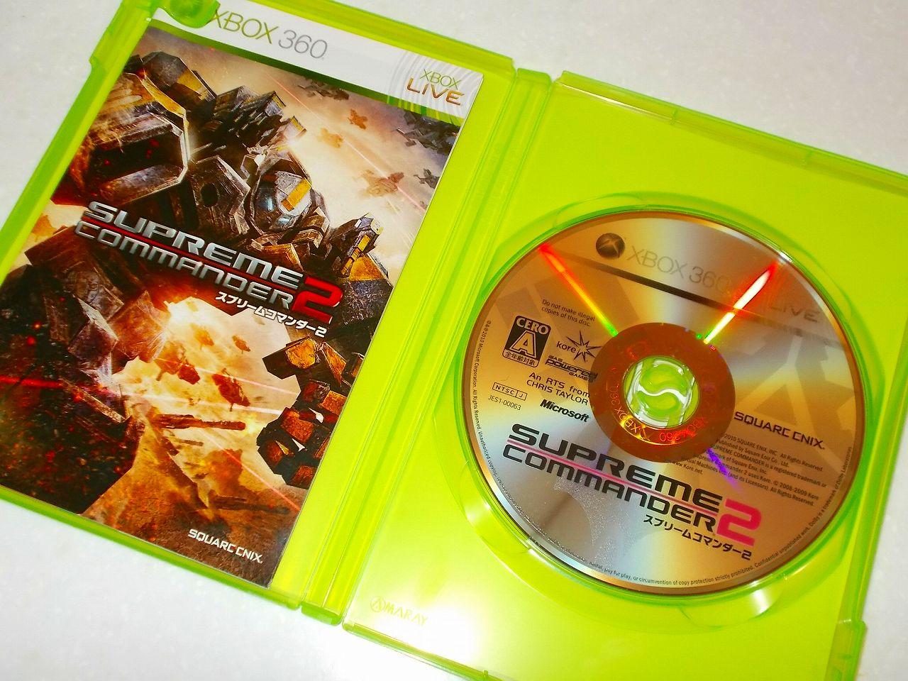 Xbox360 版 Supreme Commander 2 ゲームディスク