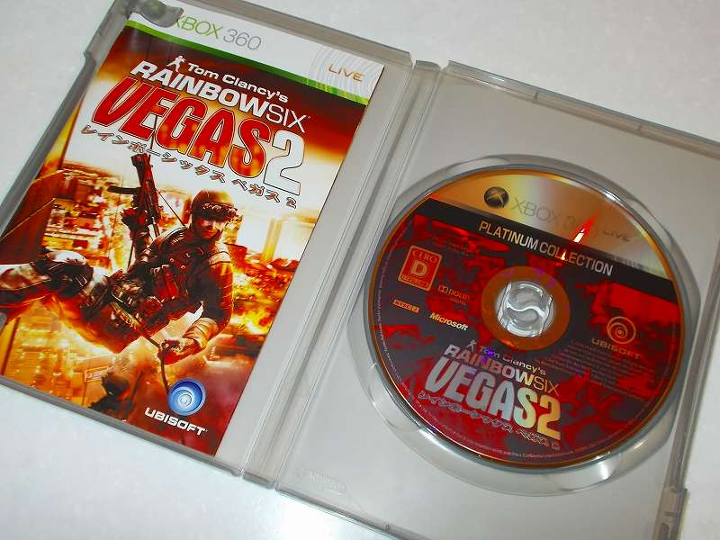 Xbox360 版 Tom Clancy's Rainbow Six Vegas 2 Platinum Collection ゲームディスク