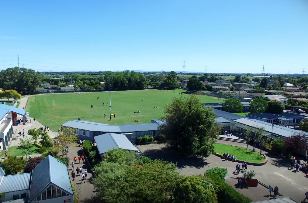 Sports field - aerial view