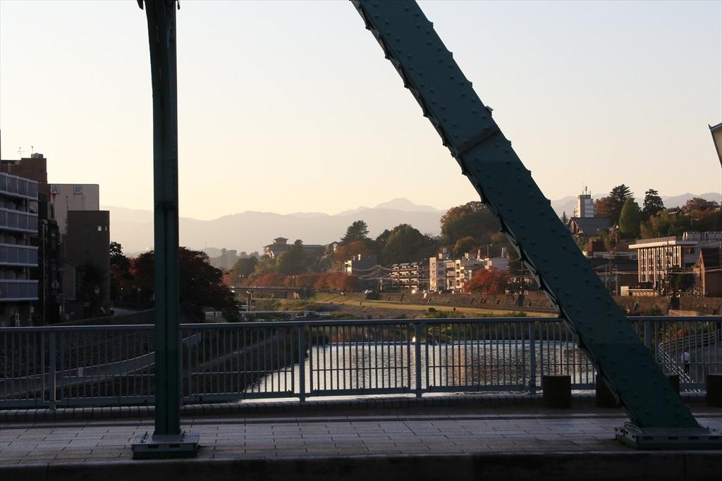 犀川と犀川に架かる犀川大橋_9