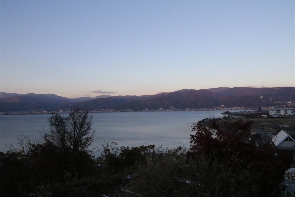 諏訪湖と八ヶ岳を見て_2