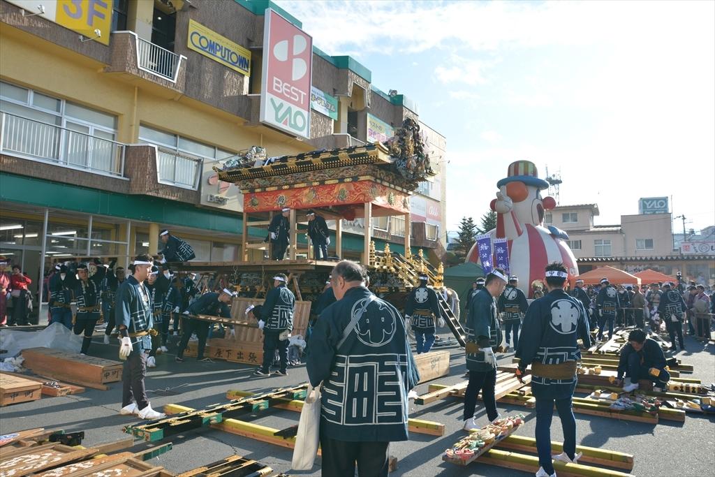 中町屋台の歌舞伎奉納には間に合わなかった_1