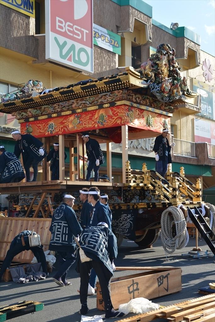 中町屋台の歌舞伎奉納には間に合わなかった_4