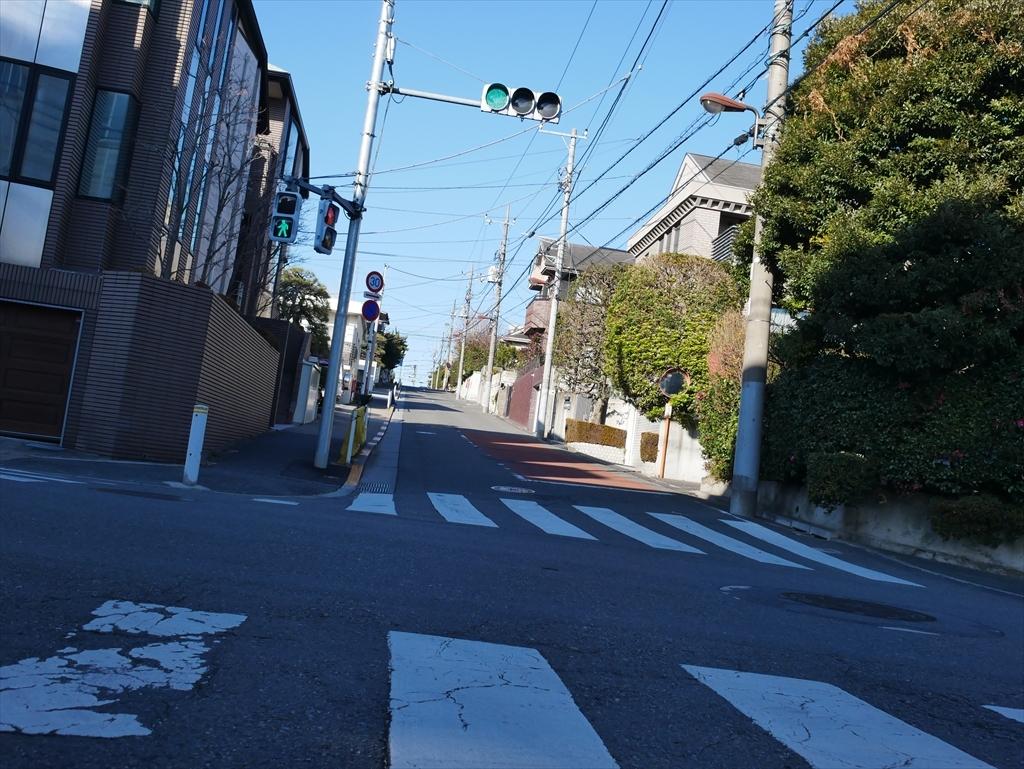 緑が丘2丁目の坂道(1)