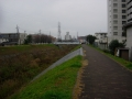 181222東高瀬川沿いに竹田街道の裏道を進む