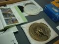 181222復元された銅鏡は3Dプリンターで型取り