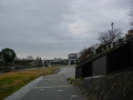 181222元来た鴨川河川敷を下っていく