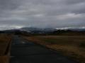 190126平城宮跡から薄く雪化粧した奈良市街方面の山