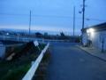 190209佐保川に沿って自転車道へアクセス
