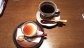 190105デザートのプリンとコーヒー