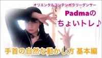 bellydance youtube Padmaのちょいトレムービーレッスン