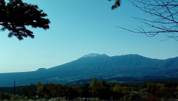 初冠雪 浅間山です。