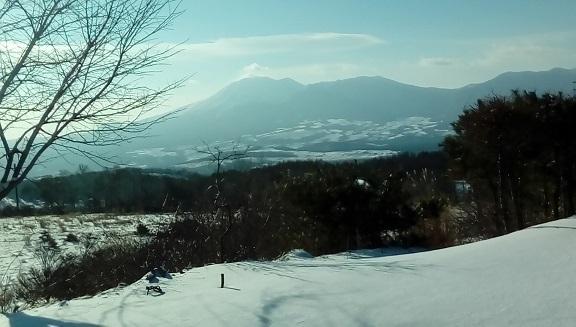 12月20日 浅間山です。