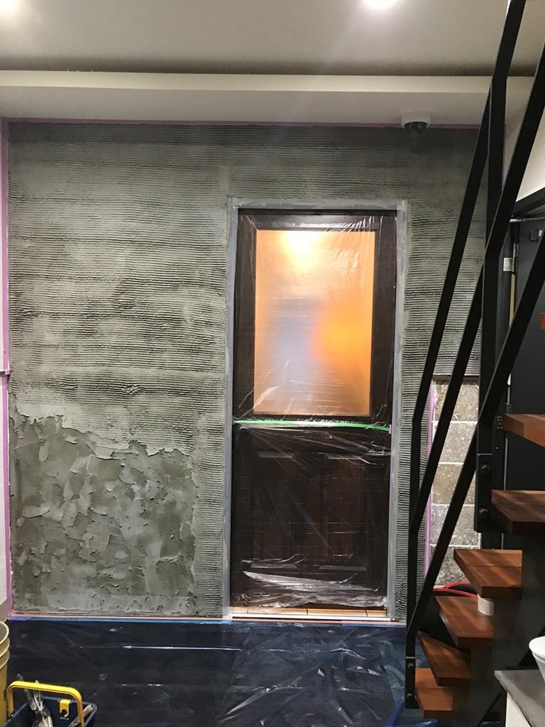 ④ベースモルタル塗り