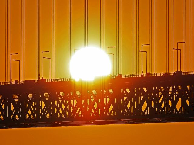 190119明石海峡大橋夕陽1