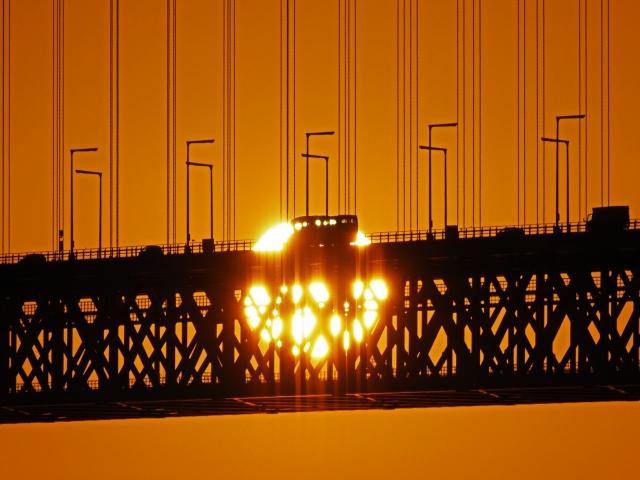 190119明石海峡大橋夕陽2