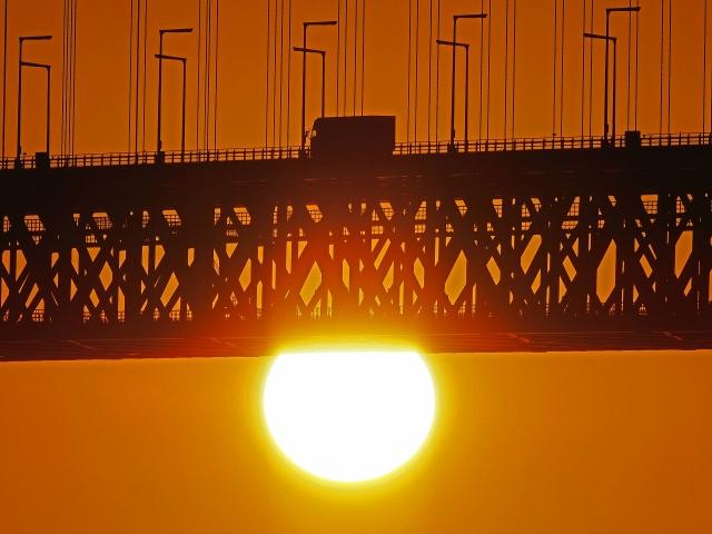 190119明石海峡大橋夕陽3