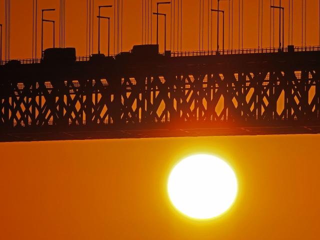 190119明石海峡大橋夕陽4