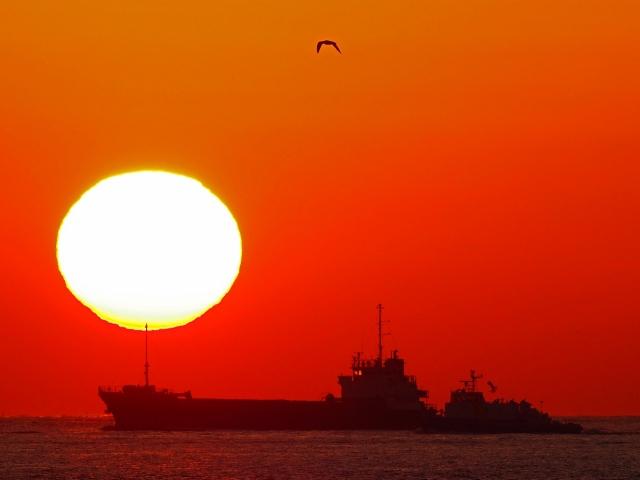 190119明石海峡大橋夕陽6