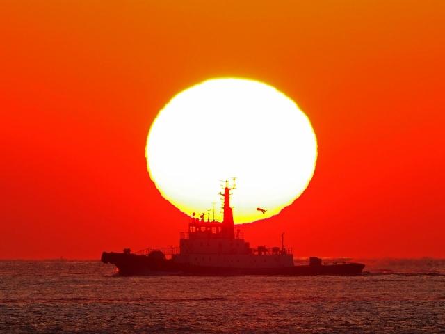 190119明石海峡大橋夕陽8