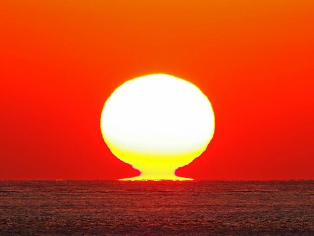 190119明石海峡大橋夕陽10