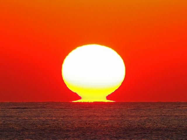 190119明石海峡大橋夕陽12