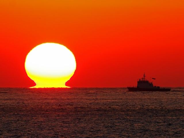 190119明石海峡大橋夕陽17