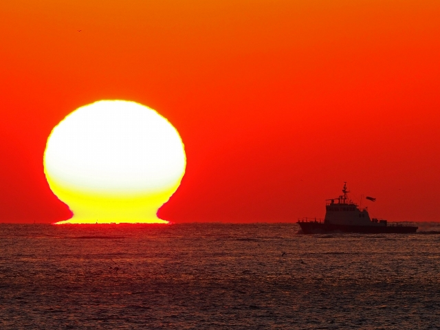 190119明石海峡大橋夕陽18