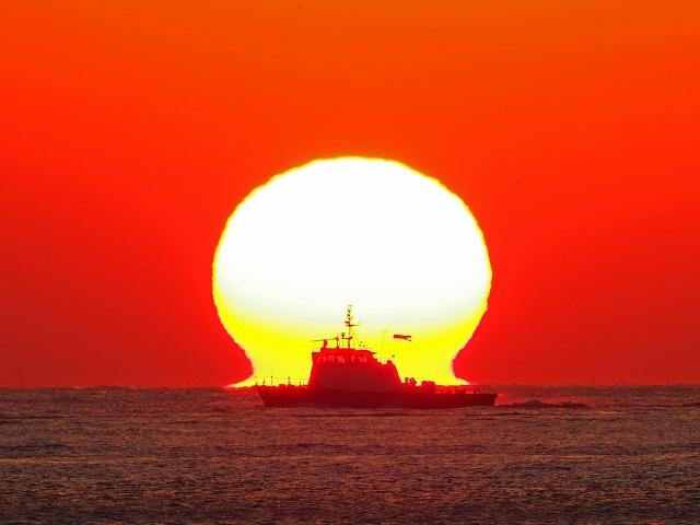 190119明石海峡大橋夕陽20