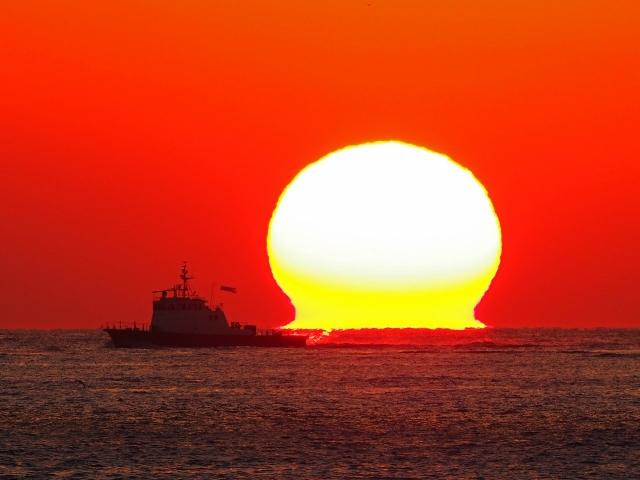 190119明石海峡大橋夕陽22