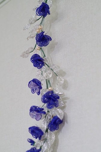同じ作り方の四重バラの花で③