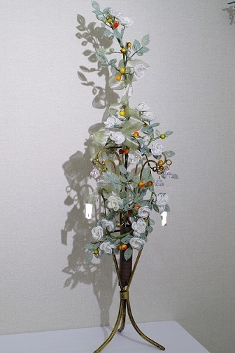 同じ作り方の四重バラの花で①