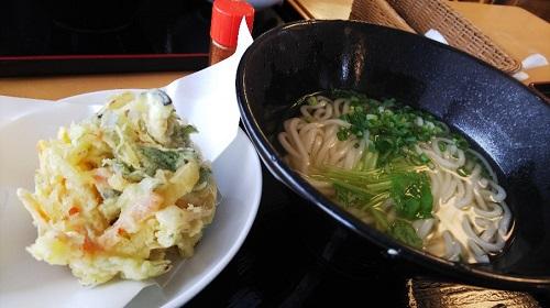 天ぷらが分厚い