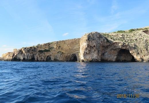 マルタ ブルーグロット ボートからの眺め