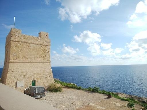マルタ ブルーグロット 見張り台