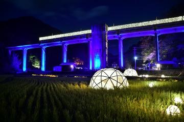宇都井駅イルミ201811(3)