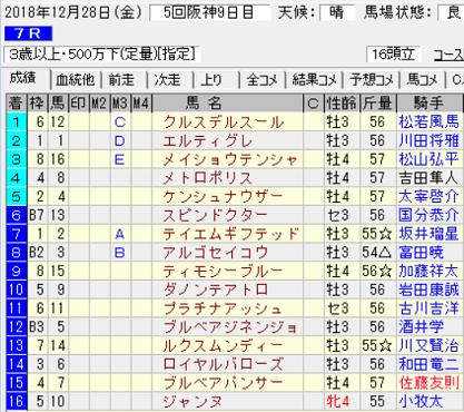 181228阪神7R結果