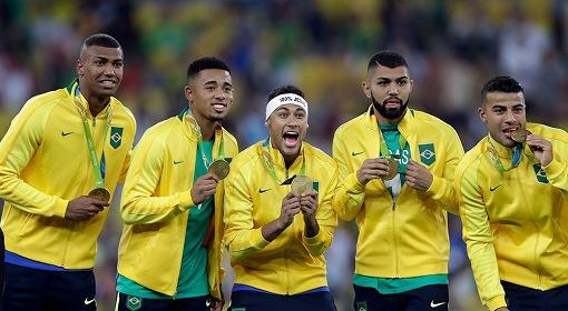 ブラジル金メダル