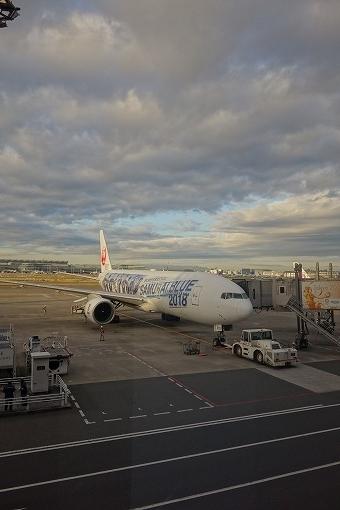 朝の飛行機