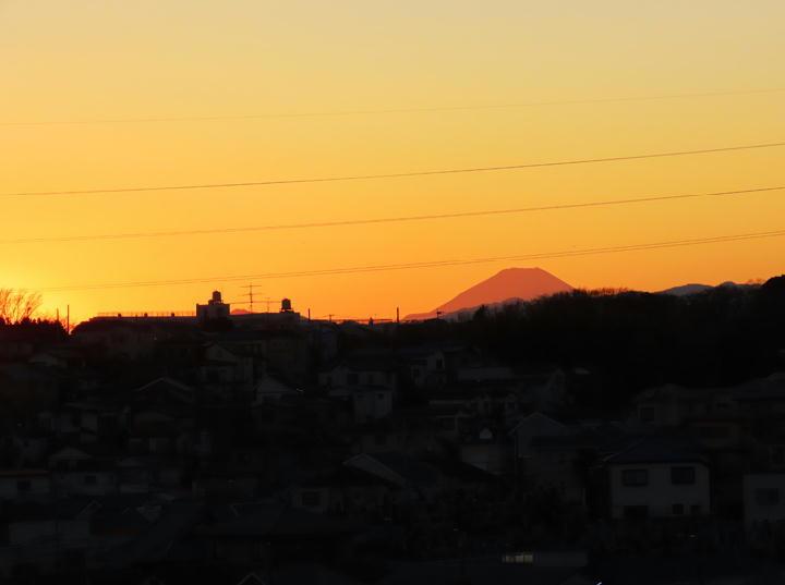 富士山の夕景-546