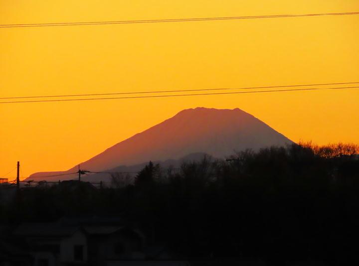 富士山の夕景-553