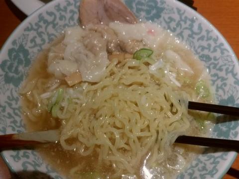 大安食堂・H29・11 塩ワンタンチャーシュー 麺