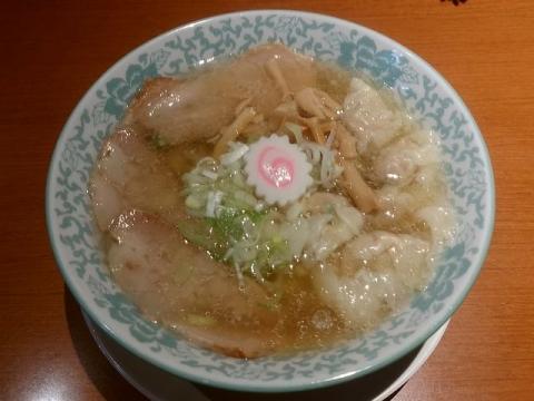 大安食堂・H29・11 塩ワンタン麺